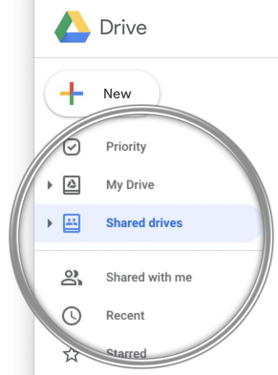 Zdj. 3. Dysk współdzielony w Google Drive